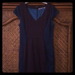 Blue and red Marc Andrews dress